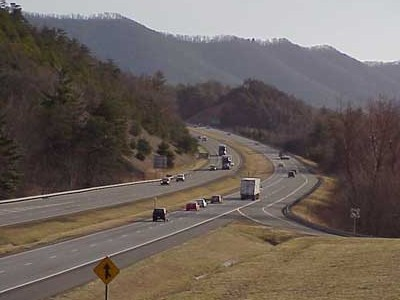 Interstate 77 in Bland County
